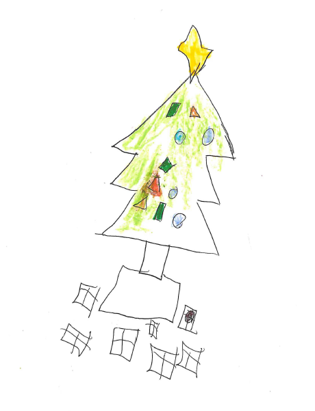 Young Clochie's Picture of a Christmas Tree