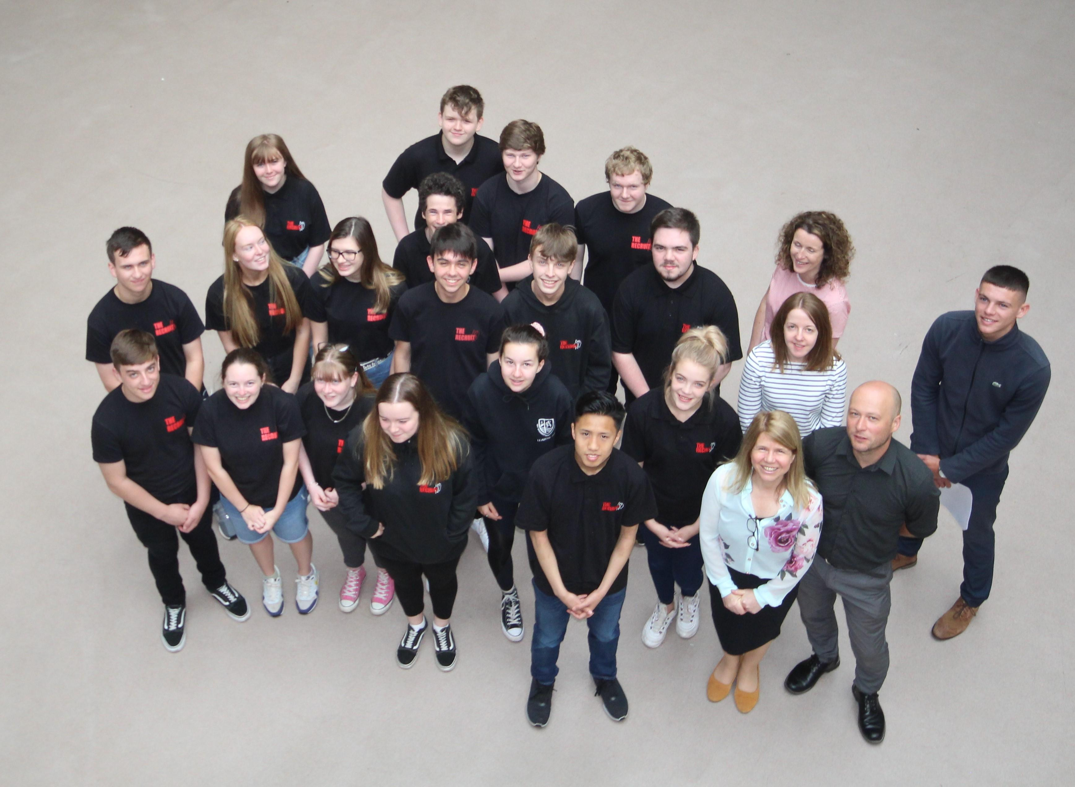 Young People and Cloch Staff at the Recruit event